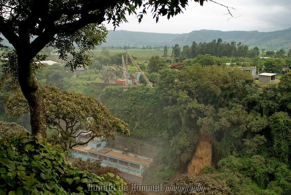 La station hydroélectrique du barrage Italien. Nile Bleu, à 35 km au sud du lac Tana.
