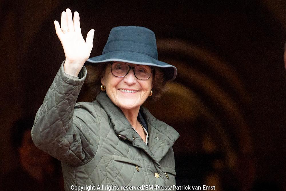 Nieuwjaarsontvangst voor Nederlandse genodigden op het Koninklijk Paleis op de Dam.<br /> <br /> op de foto:  Prinses Magriet
