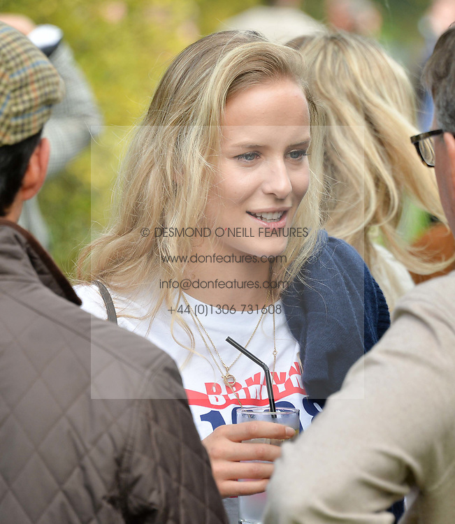 Hum Fleming at Young Guns raising money for the fight against breast cancer trough Cancer Research UK held at EJ Churchill Shooting School followed by lunch at West Wycombe Park, England. 23 September 2017.