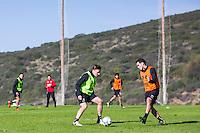 ESTEPONA - 06-01-2016, AZ in Spanje 6 januari, AZ speler Ben Rienstra, AZ speler Celso Ortiz
