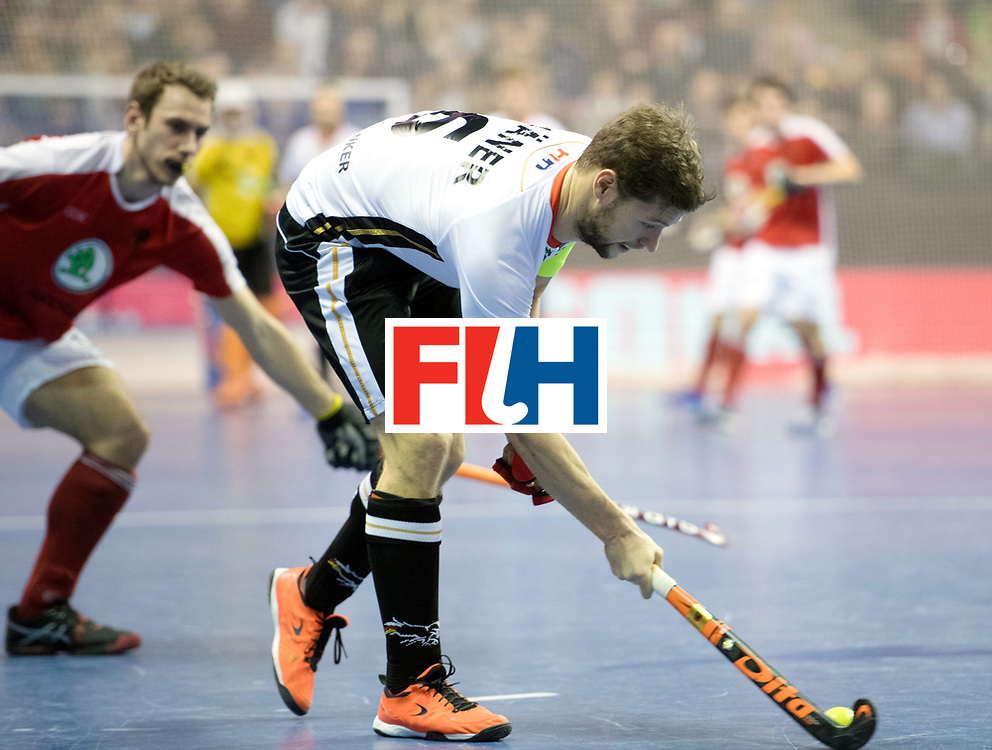 BERLIN - Indoor Hockey World Cup<br /> Final: Germany - Austria<br /> foto: Martin H&auml;ner <br /> WORLDSPORTPICS COPYRIGHT FRANK UIJLENBROEK