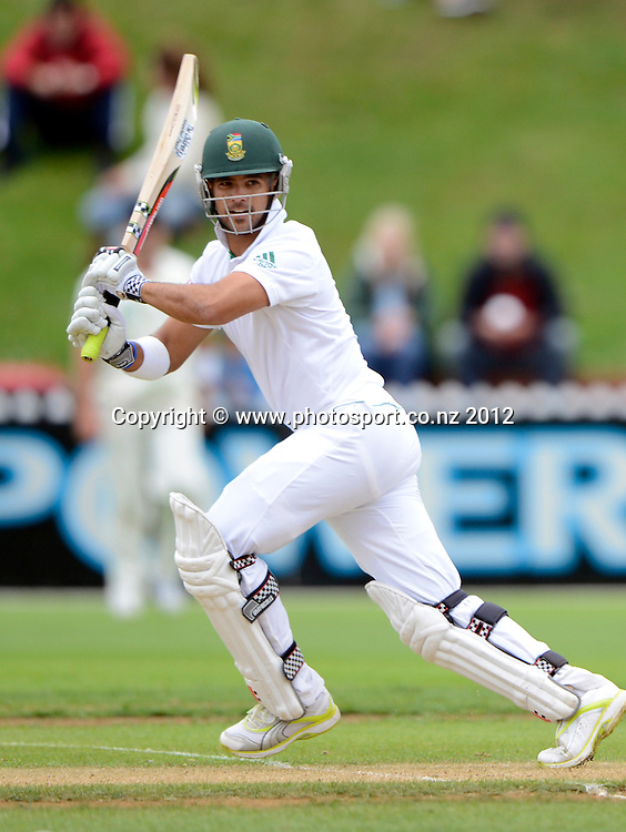 South Africa's Jean-Paul Duminy in action. Test match cricket. Third Test, Day 2. New Zealand Black Caps versus South Africa Proteas, Basin Reserve, Wellington, New Zealand. Saturday 24 March 2012. Photo: Andrew Cornaga/Photosport.co.nz