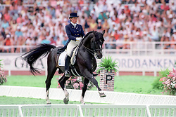Kyrklund Kira, FIN), Matador<br /> World Equestrian Games Stockholm 1990<br /> © Hippo Foto - Dirk Caremans