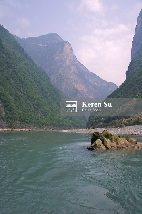 Landscape of the Lesser Three Gorges, Yangtze River, China