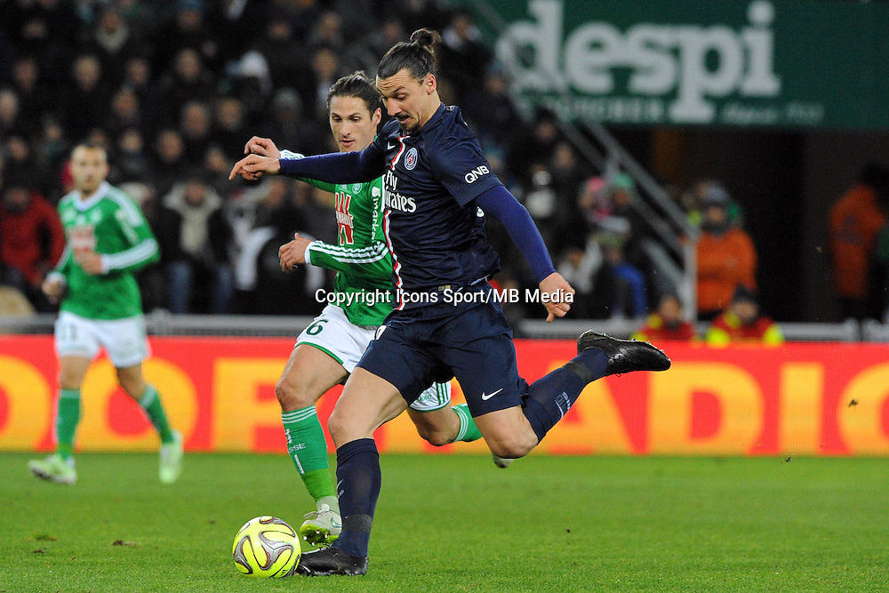 Zlatan IBRAHIMOVIC - 25.01.2015 - Saint Etienne / PSG  - 22eme journee de Ligue1<br />Photo : Jean Paul Thomas / Icon Sport