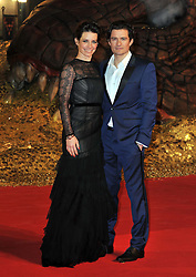 Evangeline Lilly and Orlando Bloom  attends the German premiere of the film 'The Hobbit: The Desolation Of Smaug', Sony Centre, Berlin, Germany,  Monday, 9th December 2013. Picture by  Schneider-Press / i-Images<br /> UK & USA ONLY