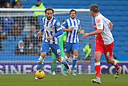 Brighton's Inigo Calderon during the Sky Bet Championship match between Brighton and Hove Albion and Birmingham City at the American Express Community Stadium, Brighton and Hove, England on 21 February 2015. Photo by Phil Duncan.