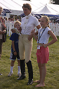 Mary King with their children Emily and Freddie. The Land Rover Burghley Horse Trials. 4 September. ONE TIME USE ONLY - DO NOT ARCHIVE  © Copyright Photograph by Dafydd Jones 66 Stockwell Park Rd. London SW9 0DA Tel 020 7733 0108 www.dafjones.com