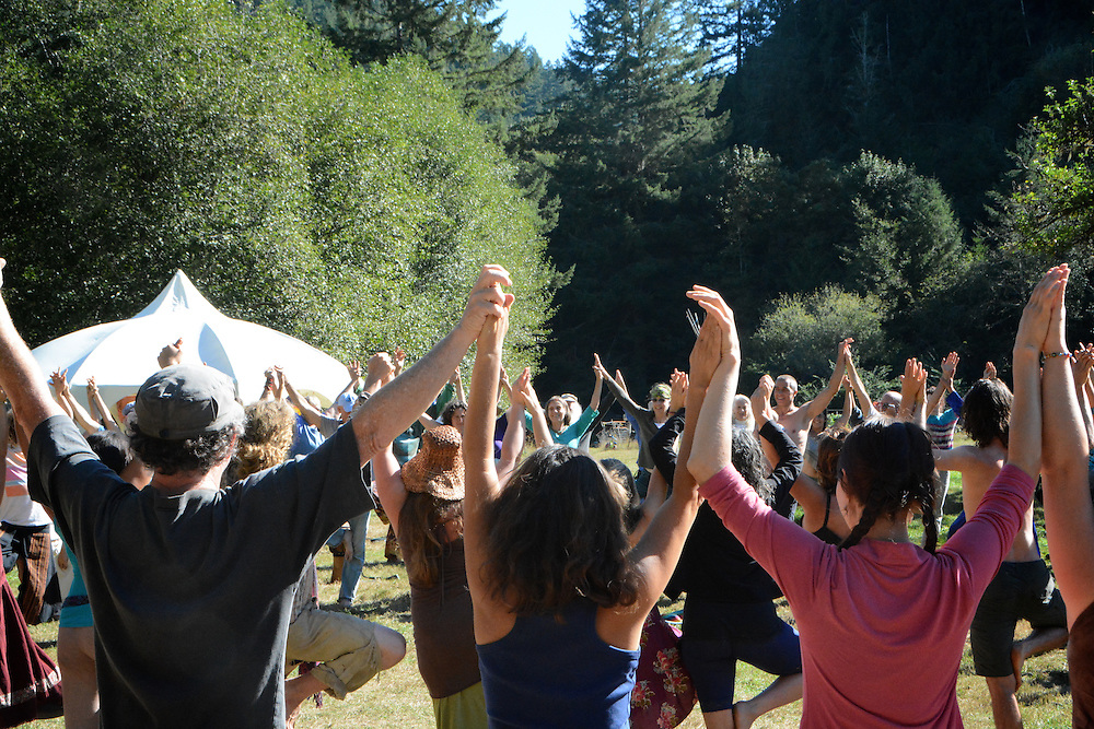 Singing Alive 2013 - A co-creative song circle gathering held in the Oregon Coast Range at Prindell Creek Farm
