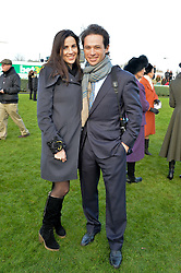 MARCUS WALEY-COHEN and his wife ALEXA  at the 2013 Hennessy Gold Cup at Newbury Racecourse, Berkshire on 30th November 2013.