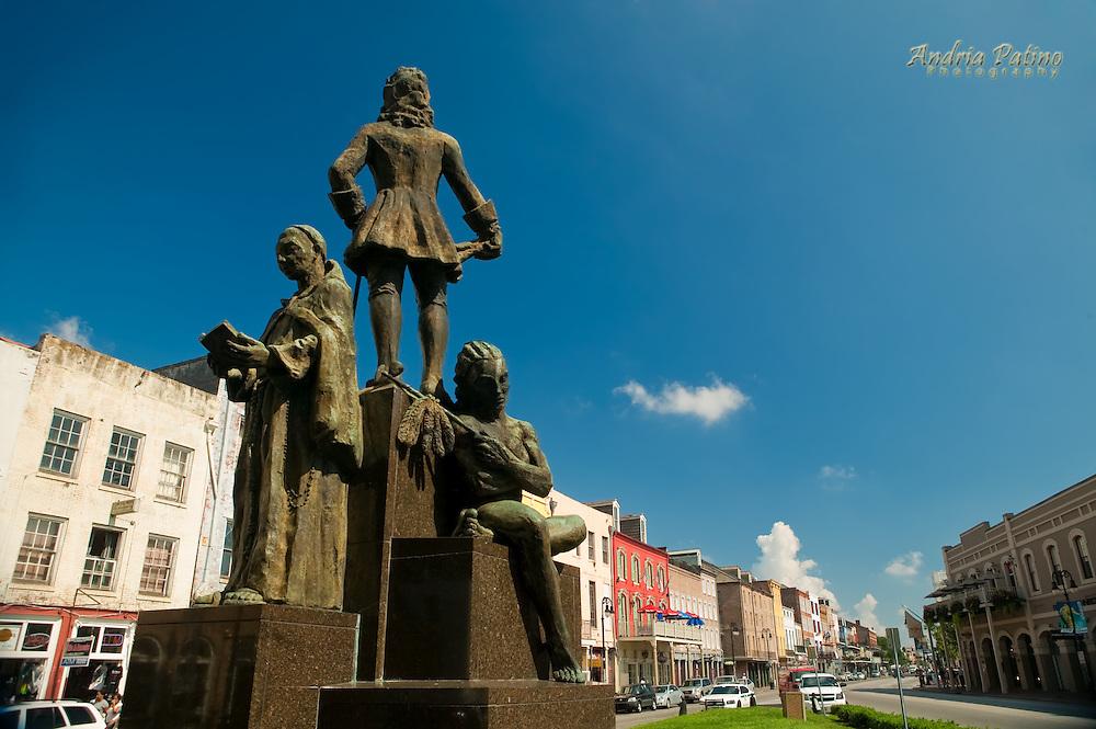 The Bienville monument, to honour  New Orleans founder Jean-Baptiste Le Moyne, Sieue de Bienville