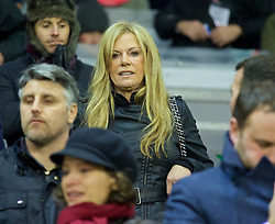 LIVERPOOL, ENGLAND - Wednesday, January 20, 2016: Jürgen Kopp's wife Ulla Sandrock before the FA Cup 3rd Round Replay match between Liverpool and Exeter City at Anfield. (Pic by David Rawcliffe/Propaganda)