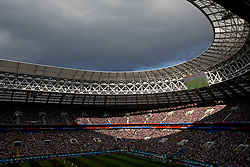 MOSCOW, RUSSIA - Sunday, July 1, 2018: Storm clouds over the stadium during the FIFA World Cup Russia 2018 Round of 16 match between Spain and Russia at the Luzhniki Stadium. (Pic by David Rawcliffe/Propaganda)
