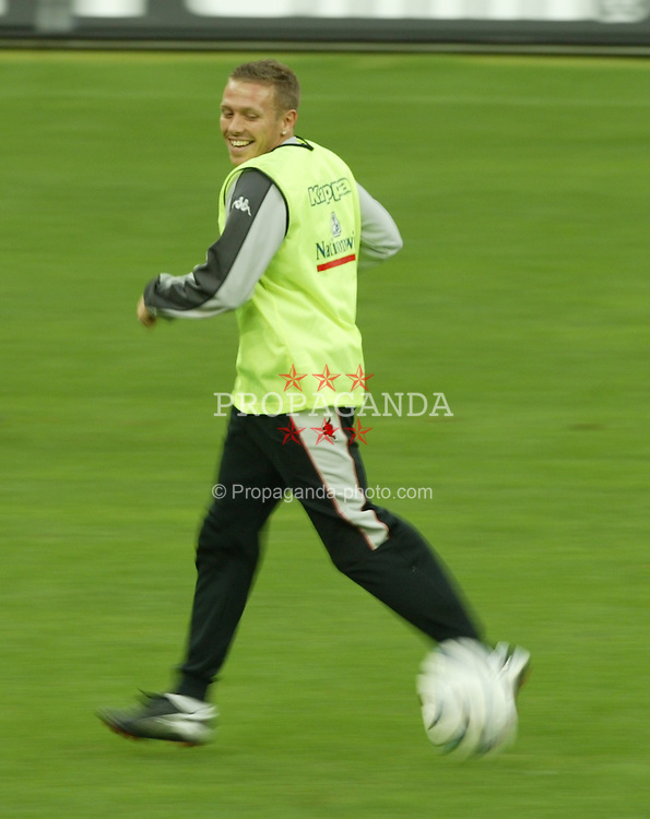MILAN, ITALY - Thursday, September 4, 2003: Wales' Craig Bellamy during training at the San Siro ahead of their Group 9 Euro 2004 qualifyer against Italy. (Pic by David Rawcliffe/Propaganda)