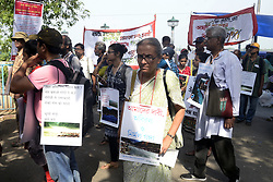 April 28, 2019 - Kolkata, West Bengal, India - Environmentalist and social activist take part in a rally to campaign for protection of River Ganga and demanded clean Ganga. (Credit Image: © Saikat Paul/Pacific Press via ZUMA Wire)