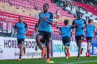 ALKMAAR - 24-08-2016, training AZ, AFAS Stadion, AZ speler Dabney dos Santos Souza, AZ speler Ridgeciano Haps, AZ speler Derrick Luckassen