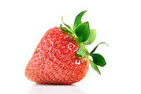 Studio shot of strawberry on white background