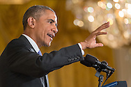 U.S. President Barack Obama speaks at a press conference to address questions about the controversial Iran Nuclear Deal in the East Room of the White House July 15, 2015. President Barack Obama fiercely defended the historic nuclear deal.