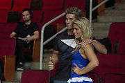HOUSTON, TX - OCTOBER 2:  Sage Northcutt and Paige VanZant pose for a photo during the UFC 192 weigh-in at the Toyota Center on October 2, 2015 in Houston, Texas. (Photo by Cooper Neill/Zuffa LLC/Zuffa LLC via Getty Images) *** Local Caption *** Sage Northcutt; Paige VanZant
