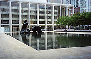 """Lincoln Center has been renovated and my favorite Henry Moore statue """"Reclining Figure"""" has been reinstalled."""