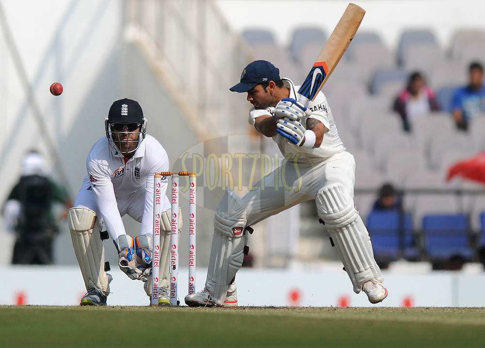Virat Kohli of India bats during day three of the 4th Airtel Test Match between India and England held at VCA ground in Nagpur on the 15th December 2012..Photo by  Pal Pillai/BCCI/SPORTZPICS .