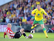 Lincoln - Wednesday, July 28th, 2010: Lincoln's' xxxx and Norwichs's xxxx during the Pre Season friendly match at Sincil Bank. (Pic by Andrew Stunell/Focus Images)