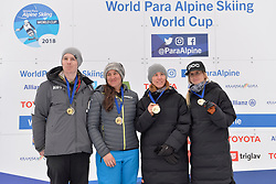 Podium at 2018 World Para Alpine Skiing Cup, Kranjska Gora, Slovenia