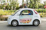Google self driving car at the Mountain View test facility