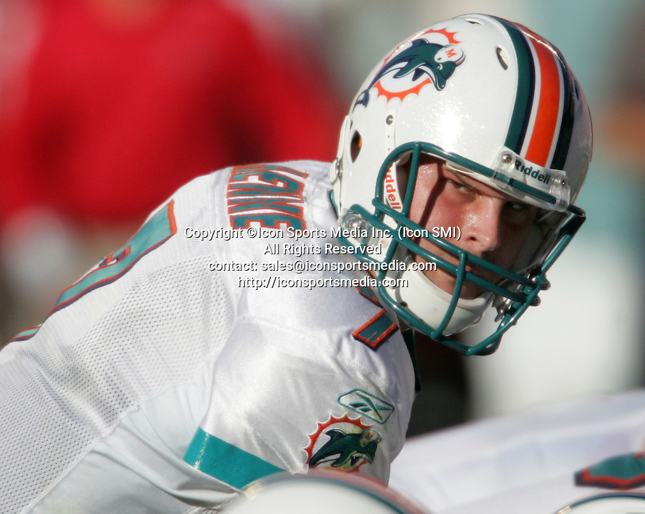 15 NOV 2009:  Chad Henne of the Dolphins during the game between the Tampa Bay Buccaneers and the Miami Dolphins at Landshark Stadium in Miami Gardens, FL.  The Dolphins defeated the Buccaneers by the score of 25 to 23.