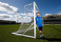 Matt Taylor of Bristol Rovers poses during a media session before Sundays Vanamara Conference Play Off Final match against Grimsby Town at Wembley Stadium for promotion to the Football League 2 - Photo mandatory by-line: Rogan Thomson/JMP - 07966 386802 - 12/05/2015 - SPORT - FOOTBALL - Bristol, England - Memorial Stadium - Bristol Rovers Play Off Final Previews - Vanarama Conference Premier.