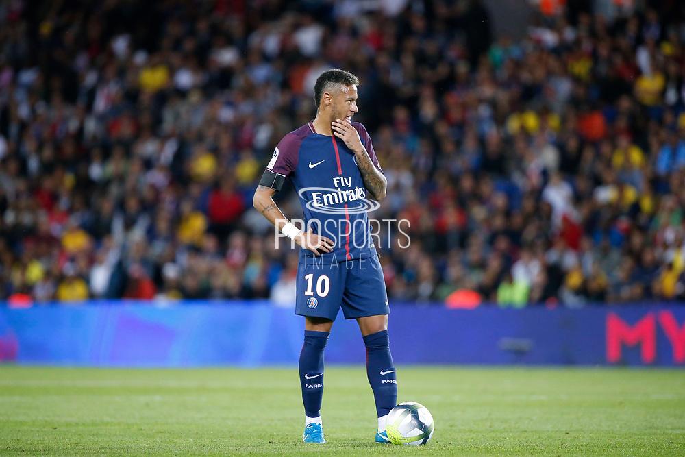 Neymar da Silva Santos Junior - Neymar Jr (PSG) during the French championship L1 football match between Paris Saint-Germain (PSG) and Toulouse Football Club, on August 20, 2017, at Parc des Princes, in Paris, France - Photo Stephane Allaman / ProSportsImages / DPPI