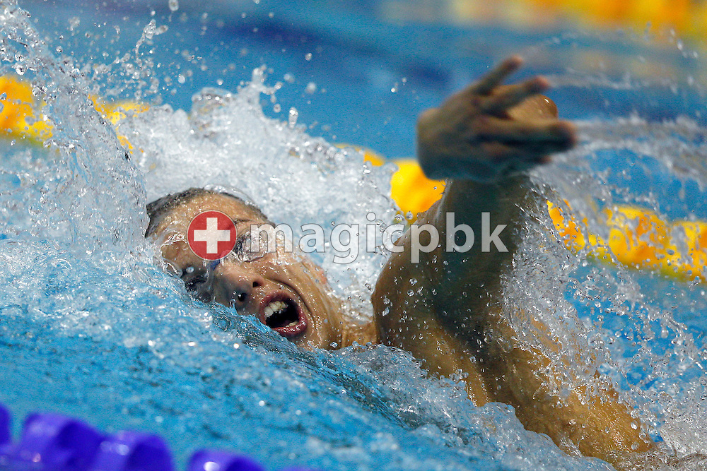 Rocco POTENZA of Italy competes in the men's 1500m Freestyle Fastest Heat during the 15th European Short Course Swimming Championships in Szczecin, Poland, Saturday, Dec. 10, 2011. (Photo by Patrick B. Kraemer / MAGICPBK)
