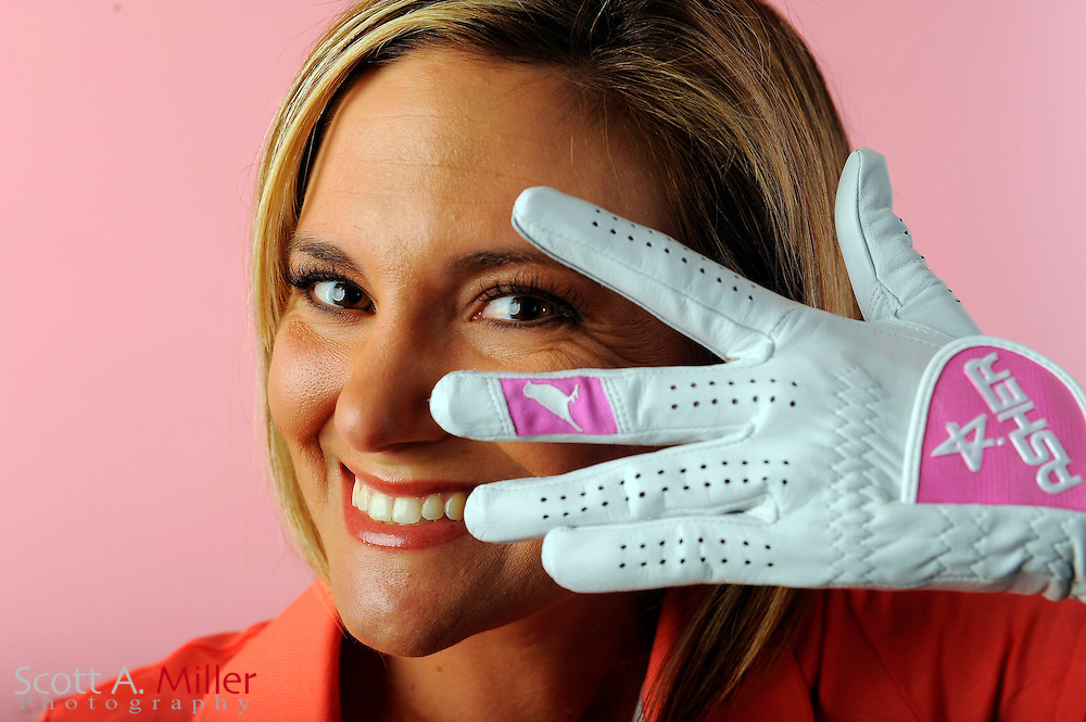 Lindsey Bergeon during a portrait shoot prior to the Symetra Tour's Florida's Natural Charity Classic at the Lake Region Yacht and Country Club on March 19, 2012 in Winter Haven, Fla. ..©2012 Scott A. Miller.