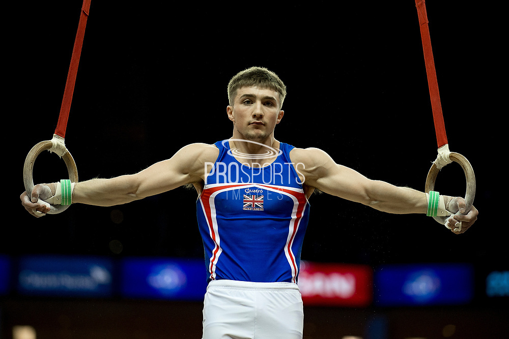 Sam Oldham of Great Britain (GBR) during the iPro Sport World Cup of Gymnastics 2017 at the O2 Arena, London, United Kingdom on 8 April 2017. Photo by Martin Cole.