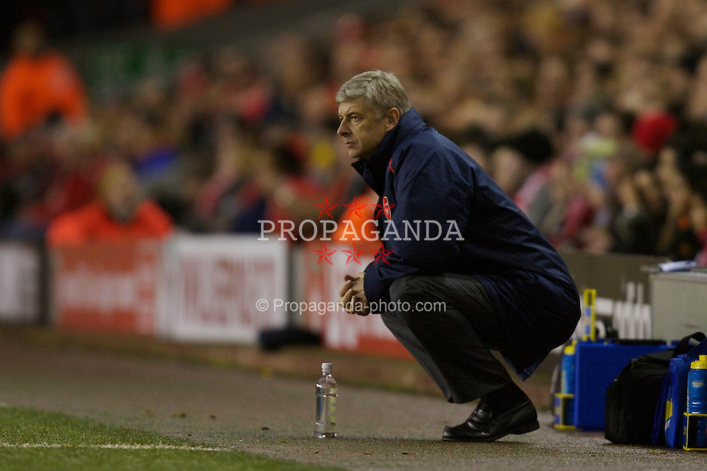 Liverpool, England - Saturday, January 6, 2007: Arsenal's manager Arsene Wenger during the FA Cup 3rd Round match against Liverpool at Anfield. (Pic by David Rawcliffe/Propaganda)