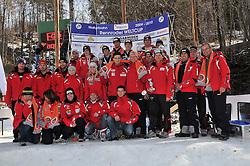 27.02.2010, Rodelbahn, Garmisch Partenkirchen, GER, WC Finale Naturbahnrodeln, im Bild die österreichischen Naturbahnrodler, EXPA Pictures © 2010, PhotoCredit: EXPA/ H. Sobe