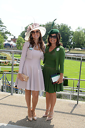 Left to right, FABIANA ECCLESTONE and DANIELLA HELAYEL at the 2nd day of the 2013 Royal Ascot Horseracing festival at Ascot Racecourse, Ascot, Berkshire on 19th June 2013.