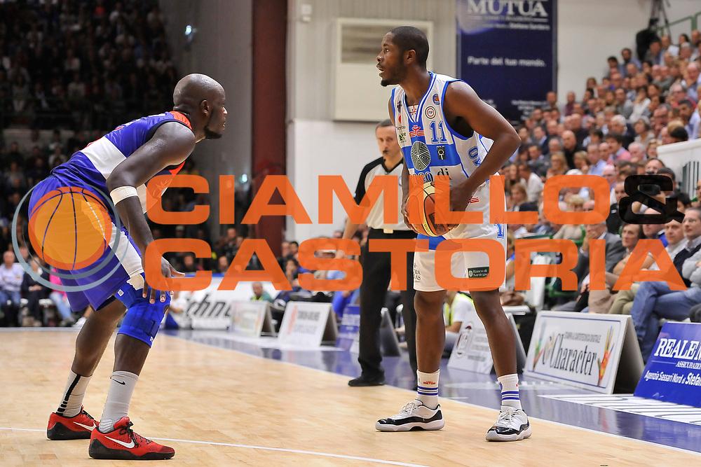 DESCRIZIONE : Campionato 2014/15 Dinamo Banco di Sardegna Sassari - Enel Brindisi<br /> GIOCATORE : Jerome Dyson<br /> CATEGORIA : Passaggio<br /> SQUADRA : Enel Brindisi<br /> EVENTO : LegaBasket Serie A Beko 2014/2015<br /> GARA : Dinamo Banco di Sardegna Sassari - Enel Brindisi<br /> DATA : 27/10/2014<br /> SPORT : Pallacanestro <br /> AUTORE : Agenzia Ciamillo-Castoria / Luigi Canu<br /> Galleria : LegaBasket Serie A Beko 2014/2015<br /> Fotonotizia : Campionato 2014/15 Dinamo Banco di Sardegna Sassari - Enel Brindisi<br /> Predefinita :
