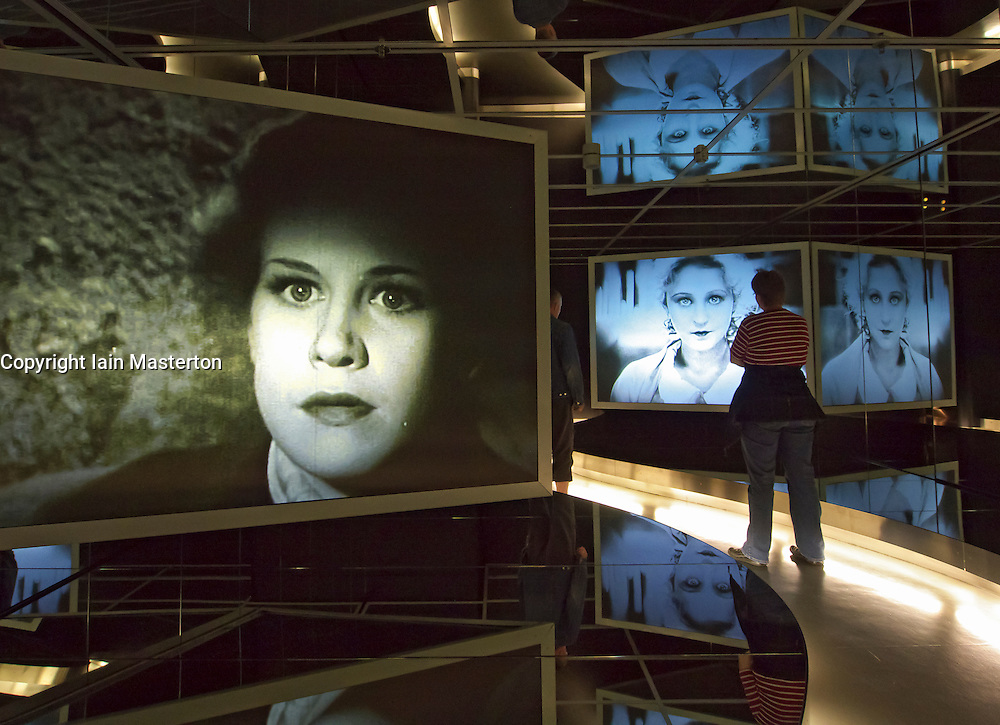 Movie display at Filmhaus or Museum for Film and Television at Sony center Potsdamer Platz in Berlin Germany