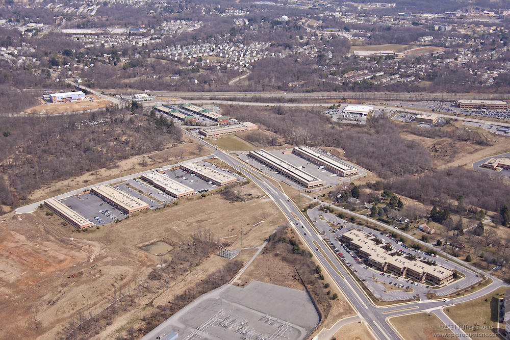 Dolfield Busines Park  aerial photography by Jeffrey Sauers of Commercial Photographics