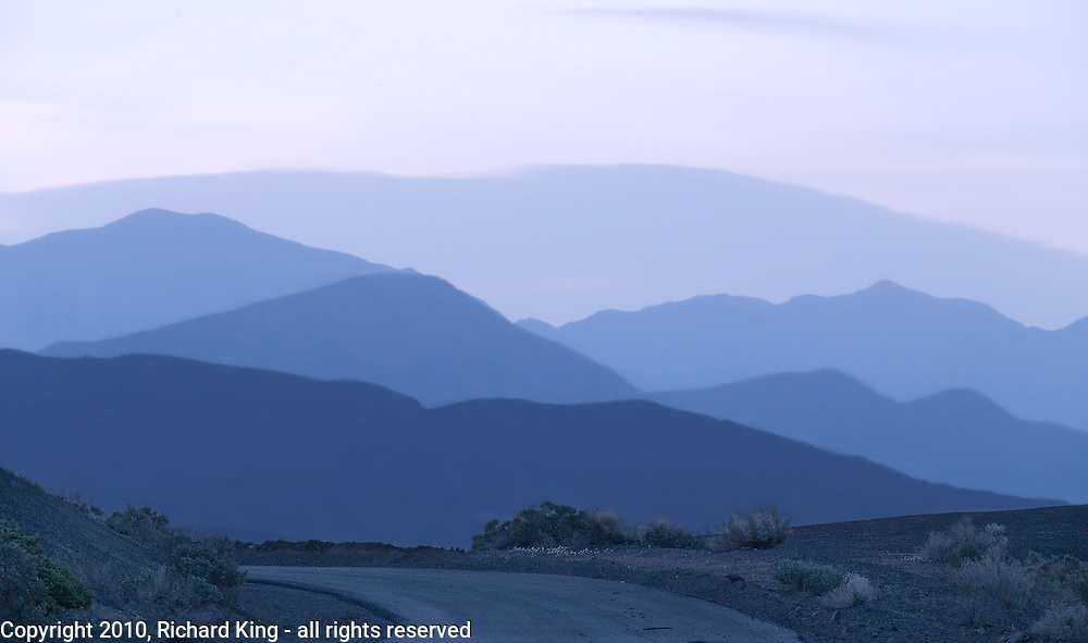 Dry Mountain and the Last Chance Range at dusk