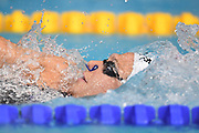 Mathilde Cini (FRA) competes on Women's 100 m Backstroke during the Swimming European Championships Glasgow 2018, at Tollcross International Swimming Centre, in Glasgow, Great Britain, Day 5, on August 6, 2018 - Photo Stephane Kempinaire / KMSP / ProSportsImages / DPPI