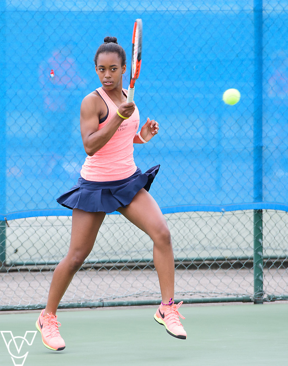 Aberdare Cup - Talbot Heath School A - Leah Gonzales-Edwards<br /> <br /> Team Tennis Schools National Championships Finals 2017 held at Nottingham Tennis Centre.  <br /> <br /> Picture: Chris Vaughan Photography for the LTA<br /> Date: July 14, 2017