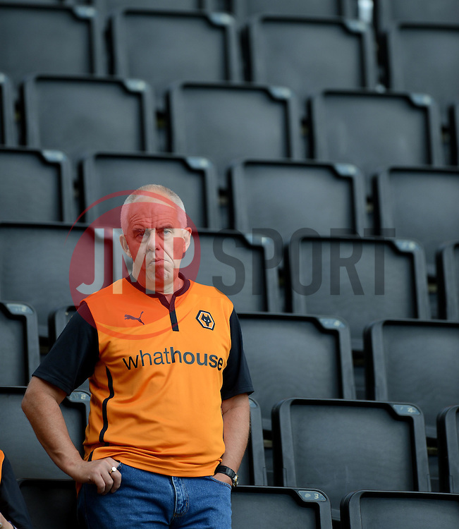 Wolves fans waits in the stands prior to kickoff.  - Photo mandatory by-line: Alex James/JMP - Tel: Mobile: 07966 386802 2/08/2014 - SPORT - FOOTBALL - Wolverhampton  - Molineux Stadium  -   Wolverhampton vs  Celta Vigo - preseason