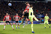 PSV player Luuk de Jong scoring the 1-2 during the UEFA Champions League, Group B football match between PSV Eindhoven and FC Barcelona on November 28, 2018 at Philips Stadium in Eindhoven, Netherlands - Photo Joep Leenen / Pro Shots / ProSportsImages / DPPI