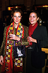 Left to right, MISS LISA MURRAY and MISS SAMANTHA WOULD at an award ceremony in London on 9th December 1999.MZX 97