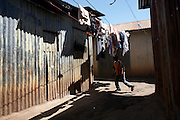 The Kawangware slum in Nairobi, Kenya, on Tuesday, Jan. 13, 2009. Kawangware is home to approximately 200,000 people many of whom live in abject poverty.