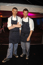 Left to right, brothers ROBERT AIKENS and TOM AIKENS at the Berkeley Square End of Summer Ball in aid of the Prince's Trust held in Berkeley Square, London on 27th September 2007.<br />