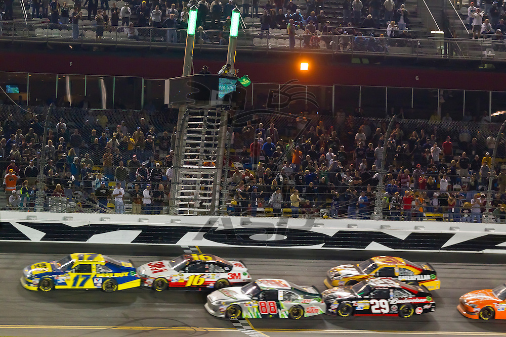 DAYTONA BEACH, FL - Feb 26, 2012:  After a delayed start due to weather, the NASCAR Sprint Cup Series take to the track for the Daytona 500 at the Daytona International Speedway in Daytona Beach, FL.