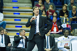 06.01.2016, Max Schmeling Halle, Berlin, GER, CEV Olympia Qualifikation, Frankreich vs Russland, im Bild Laurent Tillie (#hc, Frankreich) // 2016 CEV Volleyball European Olympic Qualification Match between France and Russia at the Max Schmeling Halle in Berlin, Germany on 2016/01/06. EXPA Pictures © 2016, PhotoCredit: EXPA/ Eibner-Pressefoto/ Wuechner<br /> <br /> *****ATTENTION - OUT of GER*****